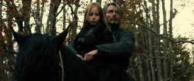 #2 Mads Mikkelsen as Michael Kohlhaas and Mélusine Mayance as Lisbeth in Arnaud des Pallières' MICHAEL KOHLHAAS (Music Box Films).
