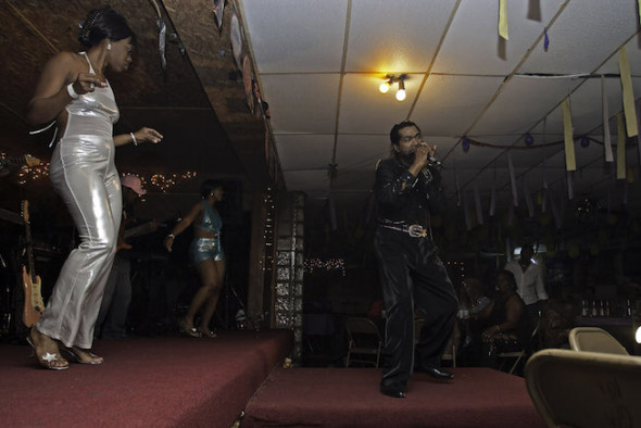 Still from I AM THE BLUES - Bobby Rush at Club Ebony. Photo by Gene Tomko.