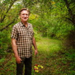 Bill Pullman at his childhood orchard in upstate New York.